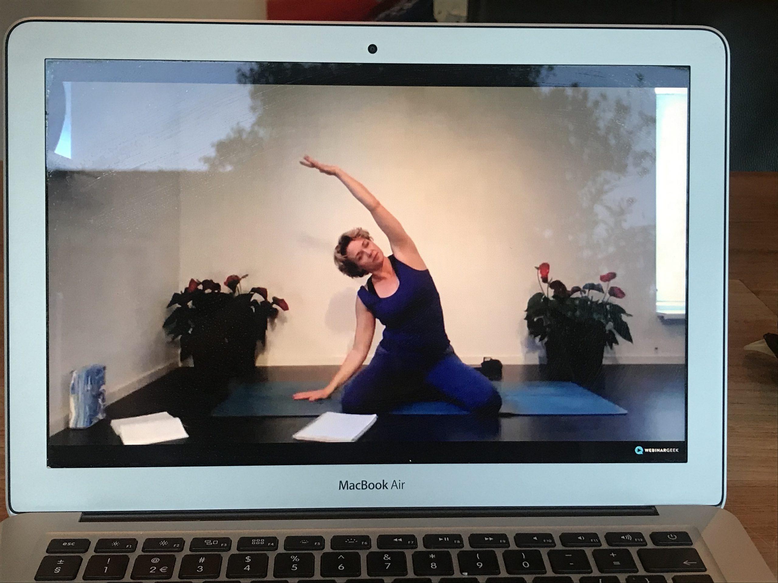 online yogalessen actie aanbieding